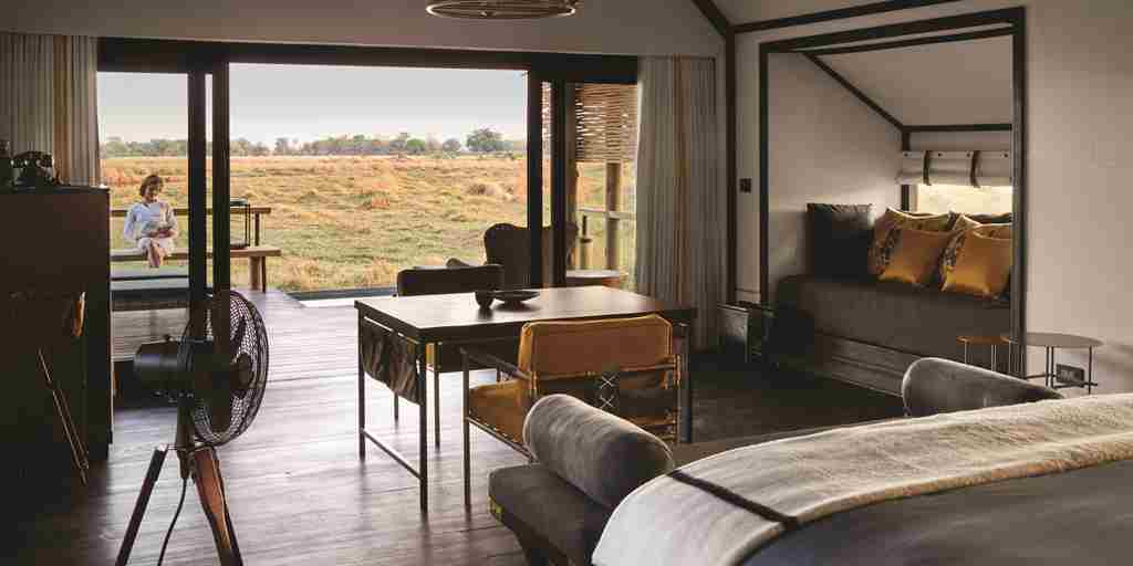belmond eagle island lodge botswana bedroom yellow zebra safaris
