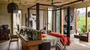singita kataza house rwanda bedroom yellow zebra safaris