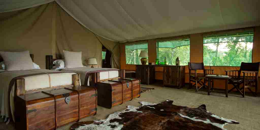 governors moron camp kenya twin bedroom yellow zebra safaris