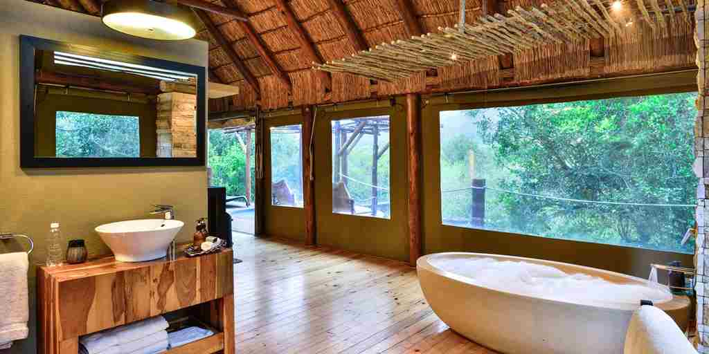 shamwari bayethe lodge south africa bathroom yellow zebra safaris
