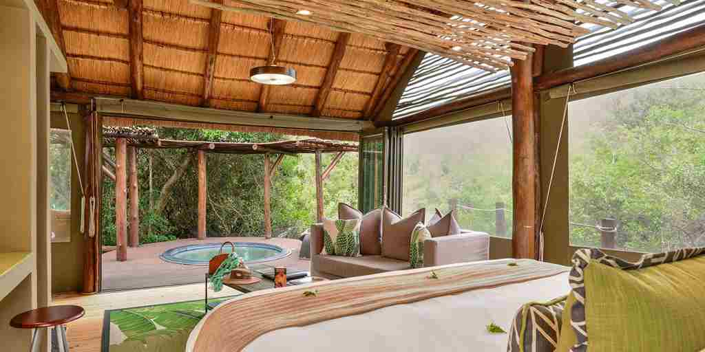 shamwari bayethe lodge south africa bedroom yellow zebra safaris