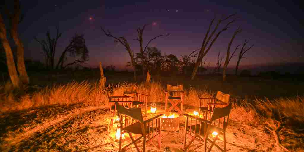 the private hide camp fire zimbabwe yellow zebra safaris