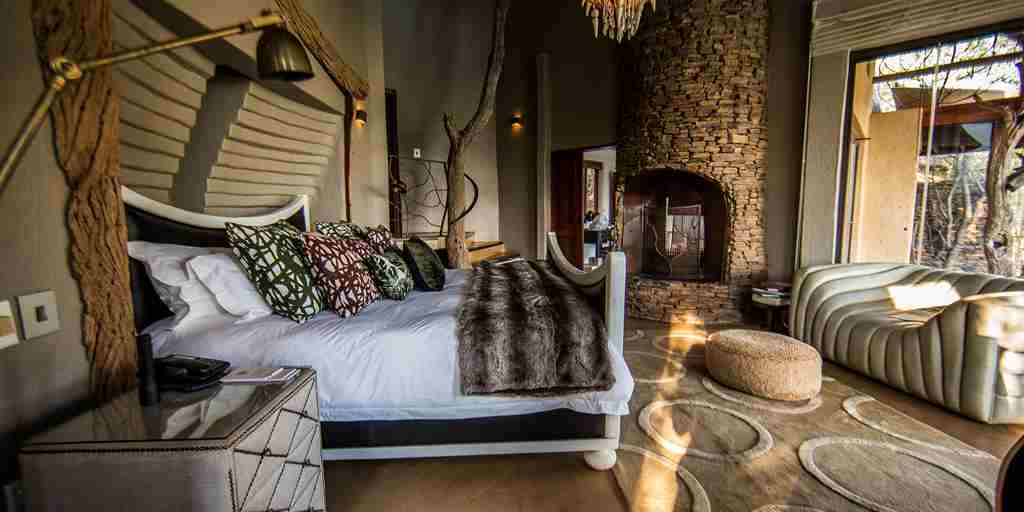 molori safari lodge master bedroom zambia yellow zebra safaris