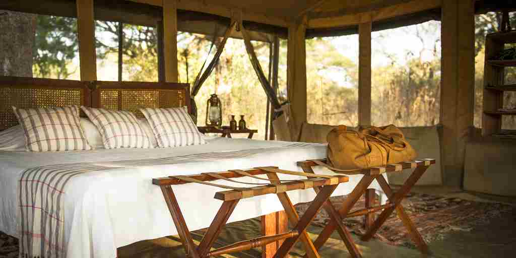 chada katavi camp tanzania bedroom yellow zebra safaris