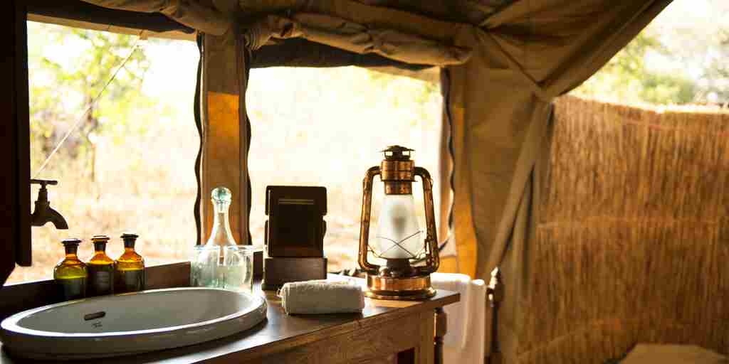 chada katavi camp tanzania washroom yellow zebra safaris