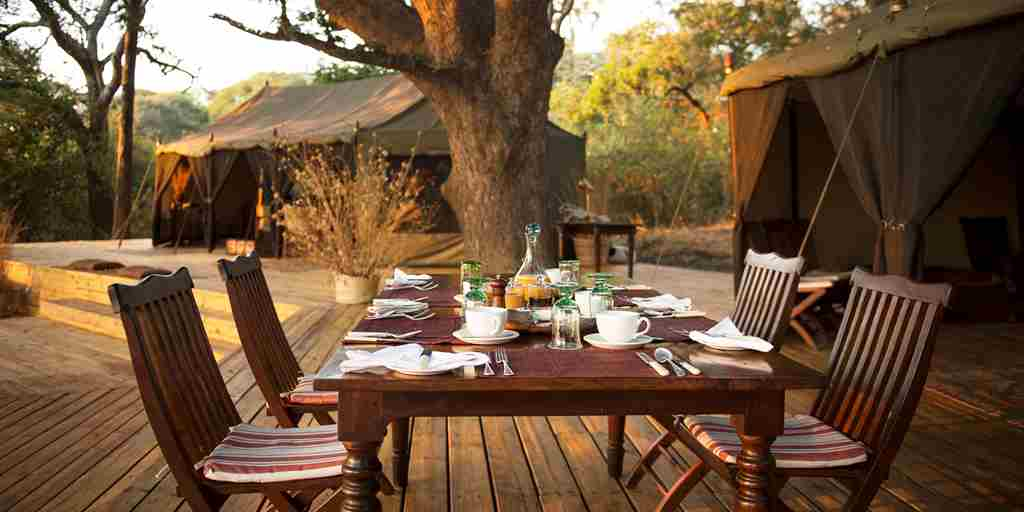 chada katavi camp tanzania dining yellow zebra safaris