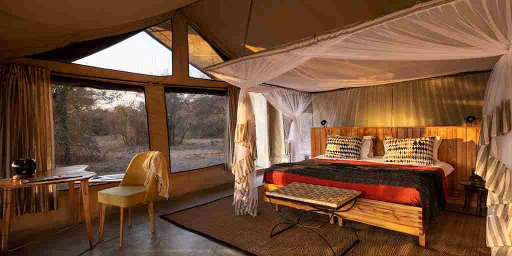 Kwihala camp guest room tanzania yellow zebra safaris