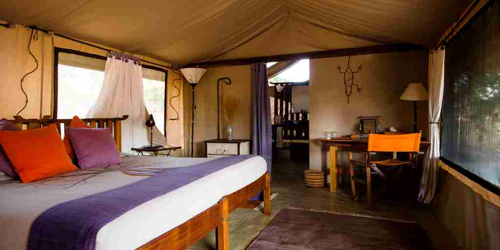 kwihala camp room tanzania yellow zebra safaris