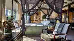 seseka tented camp double bedroom south africa yellow zebra safaris