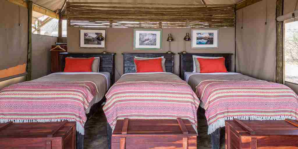 meno a kwena triple room botswana yellow zebra safaris