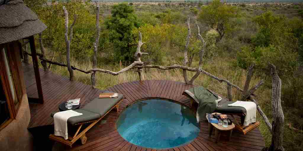 madikwe kopano lodge south africa pool decking yellow zebra safaris