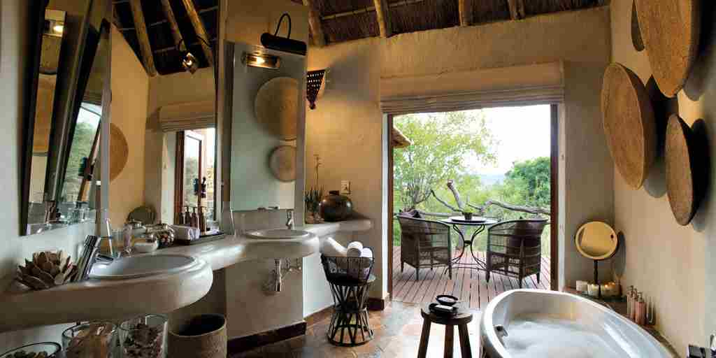 madikwe kopano lodge south africa bathroom yellow zebra safaris