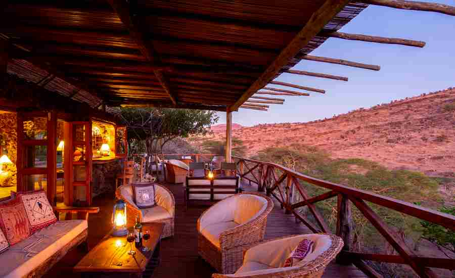 lewa wilderness balcony kenya yellow zebra safaris