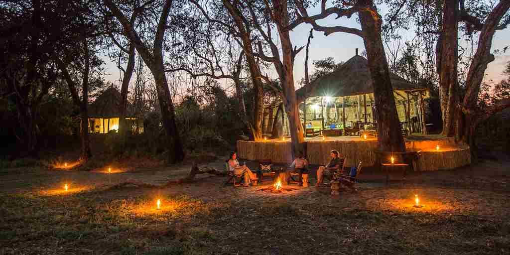 crocodile river camp fire zambia yellow zebra safaris