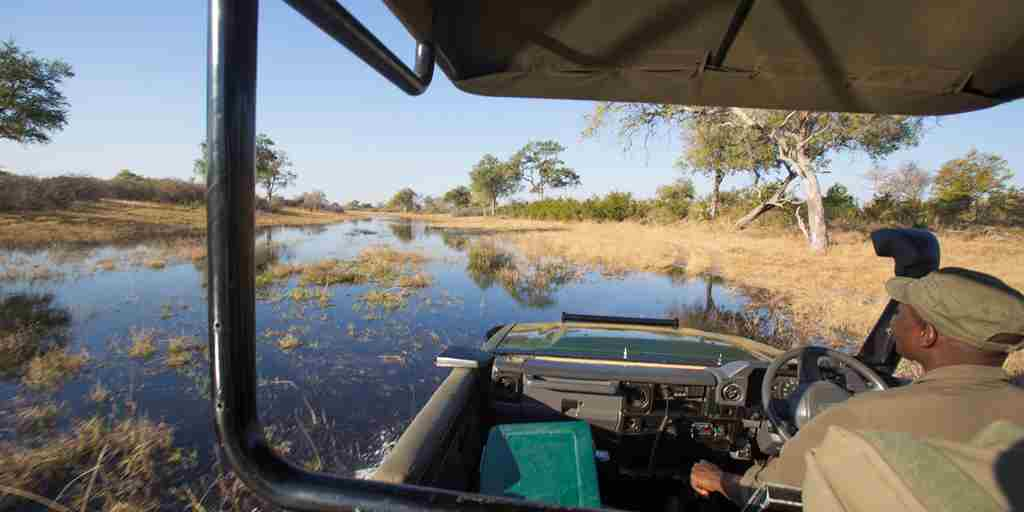 selinda explorers camp game drive botswana yellow zebra safaris