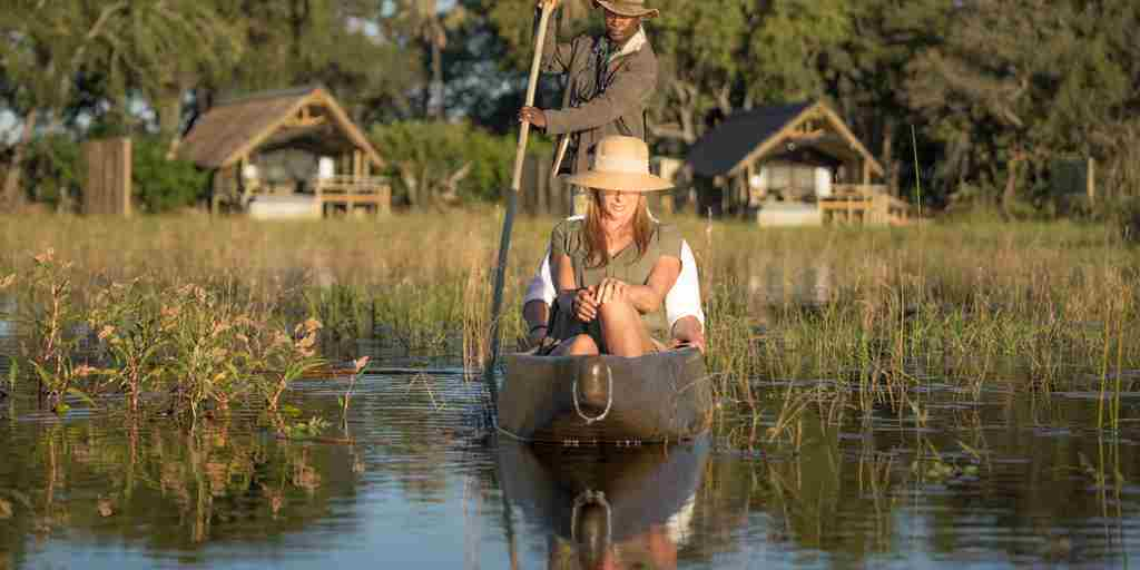 belmond eagle island mokoro view botswana yellow zebra safaris
