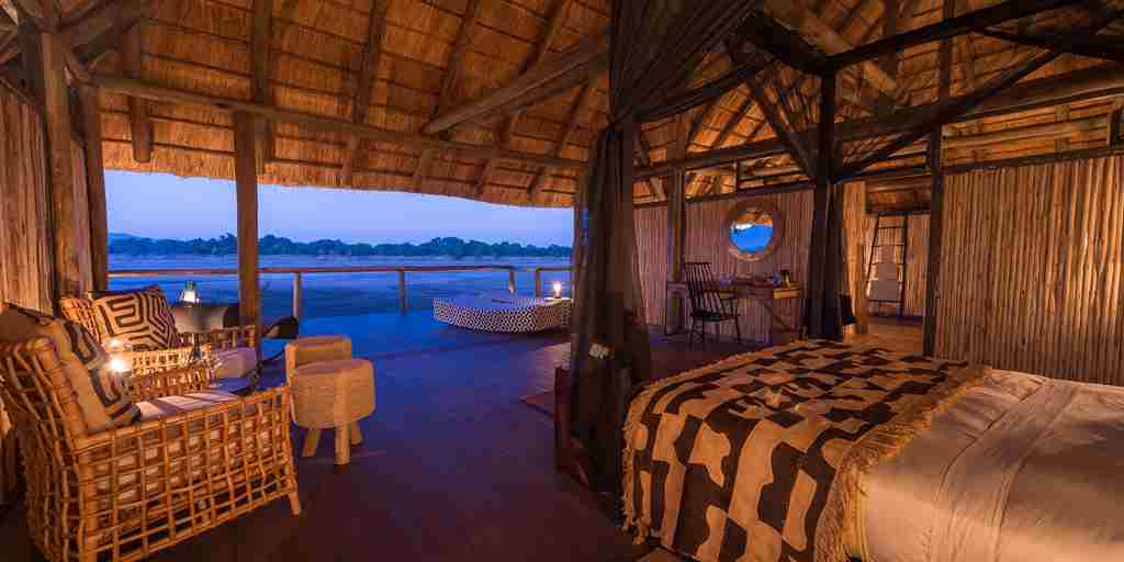 chamilandu bush camp single room zambia yellow zebra safaris