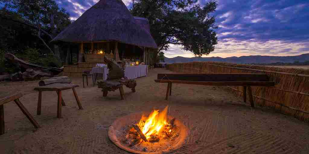 chamilandu bush camps camp fire zambia yellow zebra safaris