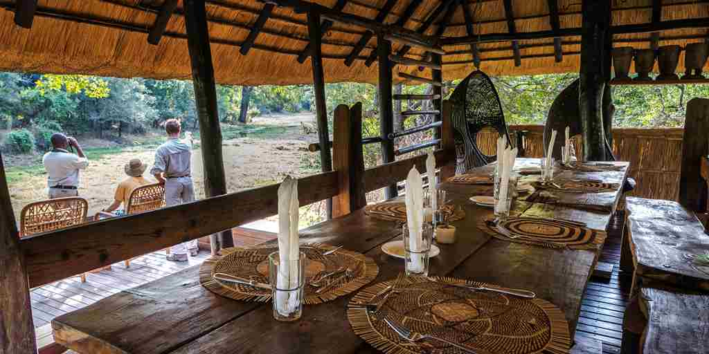 chamilandu bush camps dining zambia yellow zebra safaris