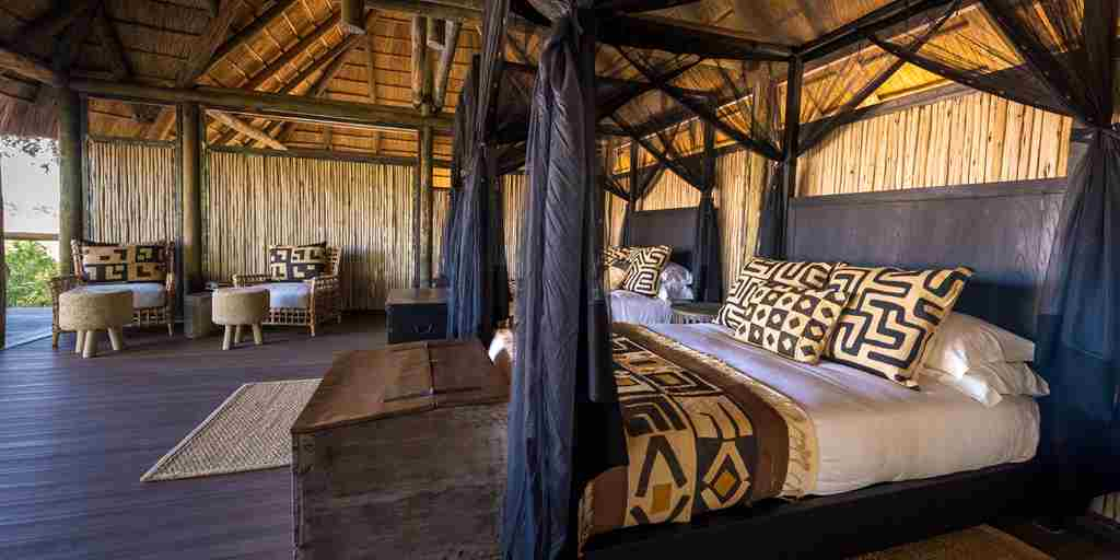 chamilandu bush camps double bedroom zambia yellow zebra safaris