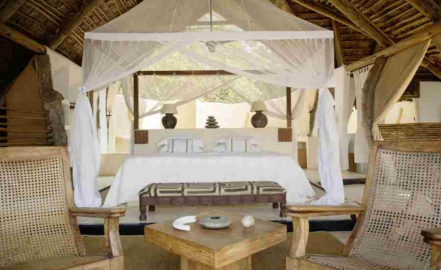 kiba point camp double bedroom tanzania yellow zebra safaris
