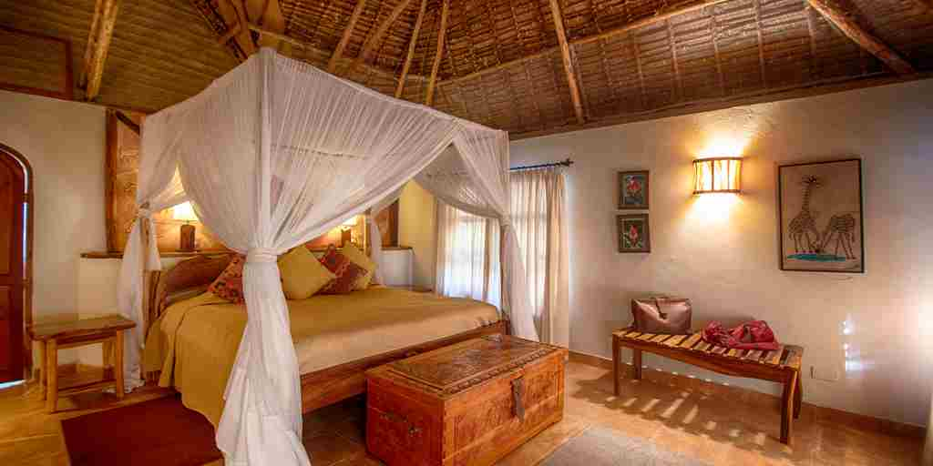 chui lodge kenya bedroom yellow zebra safaris
