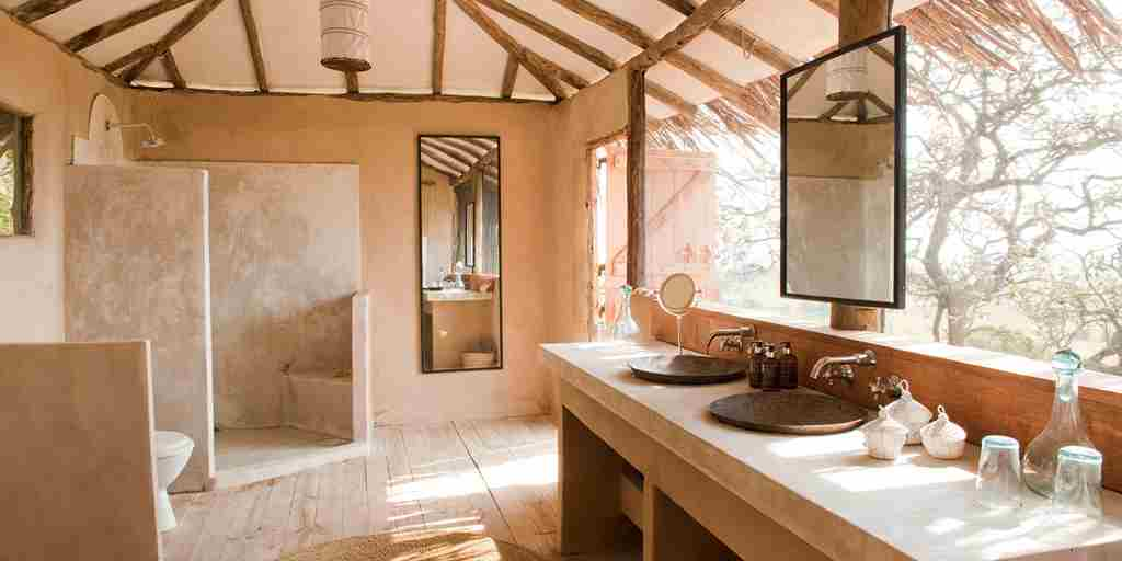 lamai serengeti bathroom tanzania yellow zebra safaris