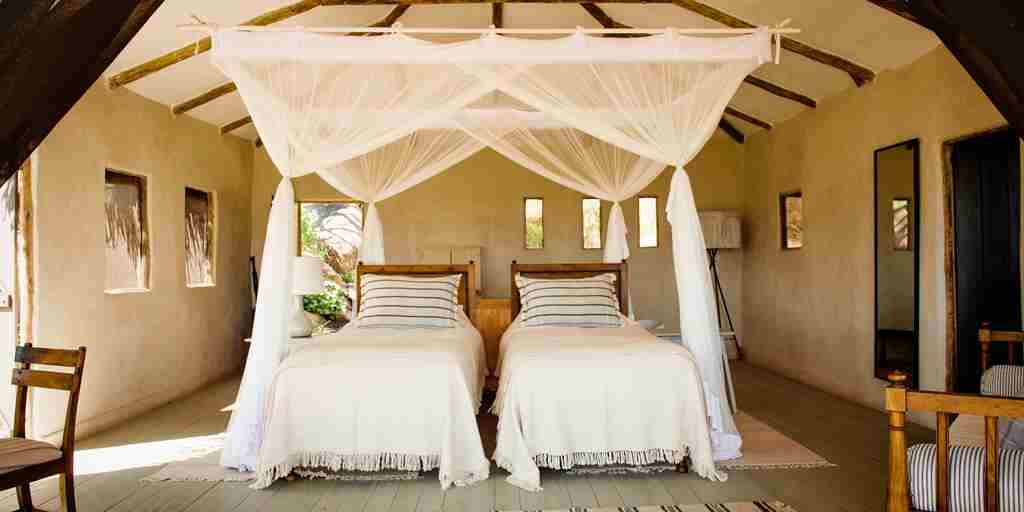 lamai serengeti twin room tanzania yellow zebra safaris