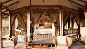 lamai serengeti double room tanzania yellow zebra safaris