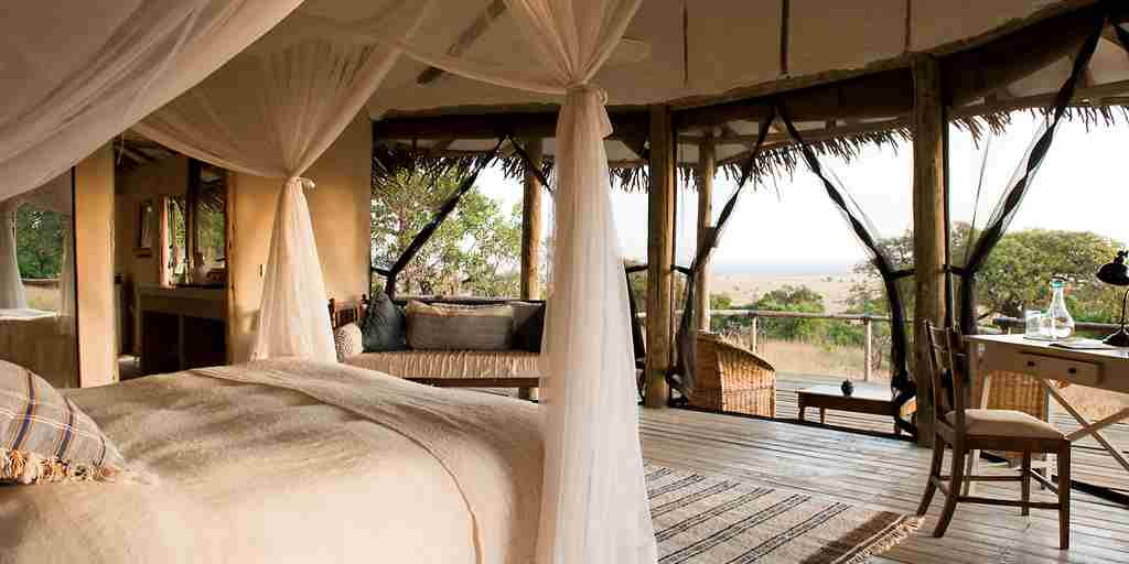 lamai serengeti double room view tanzania yellow zebra safaris