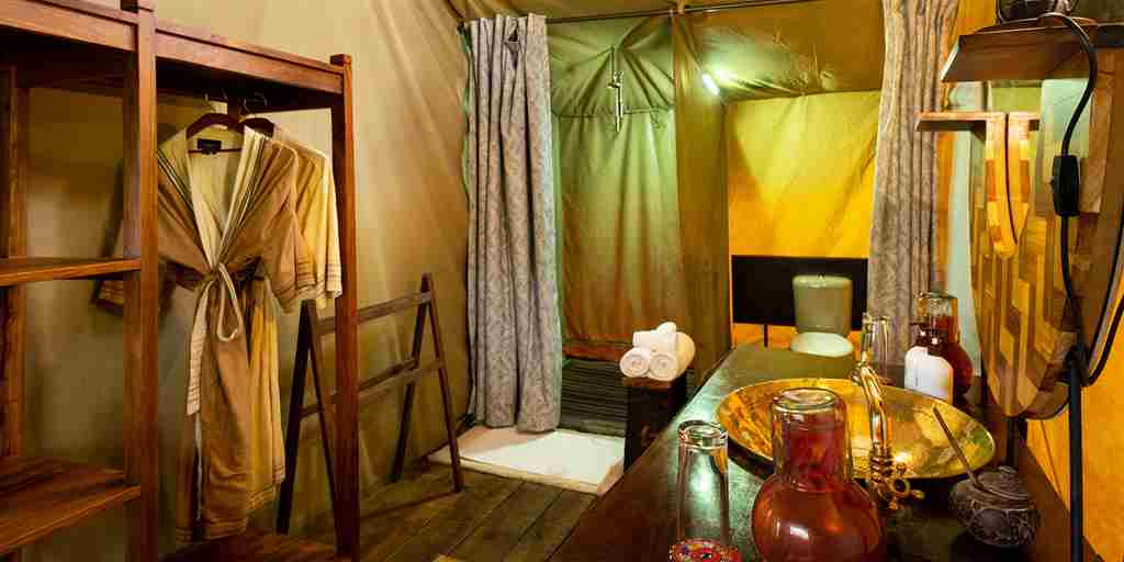 lemala ngorongoro bathroom tanzania yellow zebra safaris
