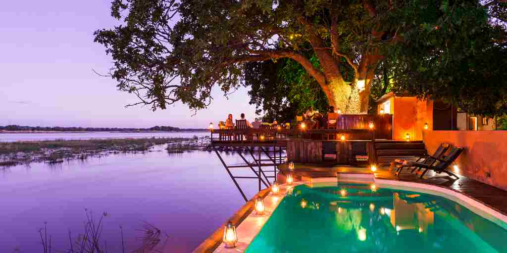 royal zambezi pool area zambia yellow zebra safaris