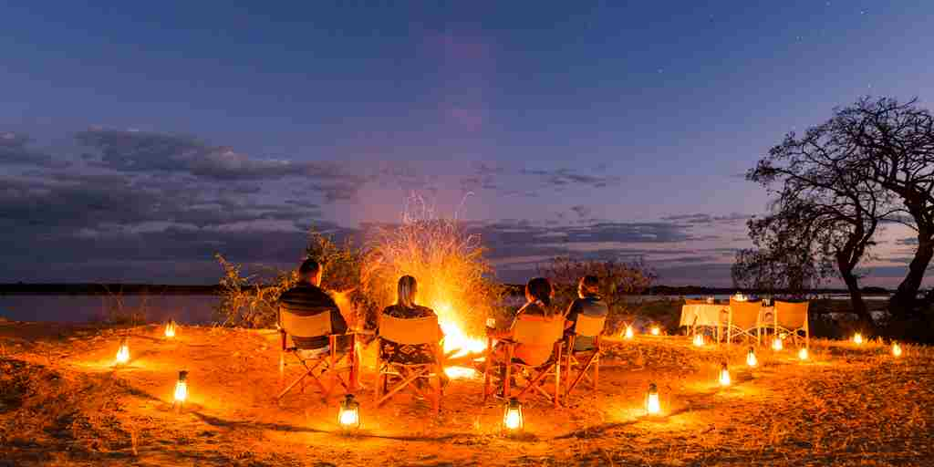 royal zambezi camp fire zambia yellow zebra safaris