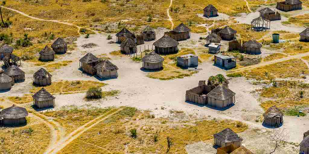 delta camp cultural village botswana yellow zebra safaris