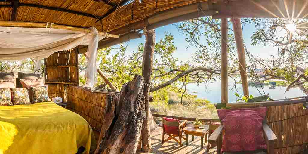 delta camp double botswana yellow zebra safaris