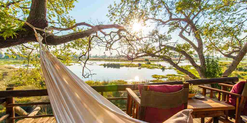 delta camp hammock botswana yellow zebra safaris