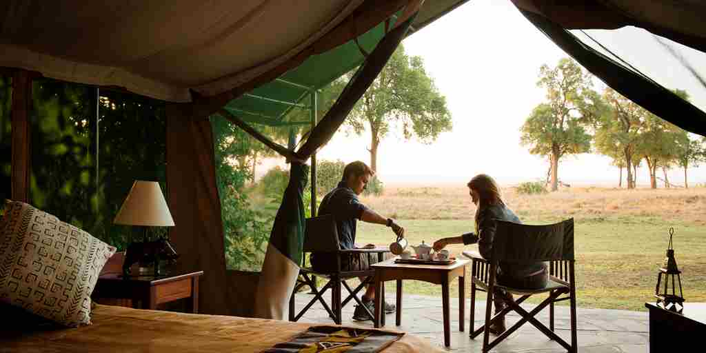 governors camp bush breakfast kenya yellow zebra safaris