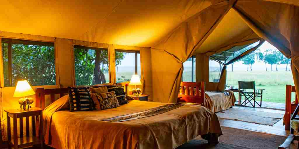 governors camp double room kenya yellow zebra safaris