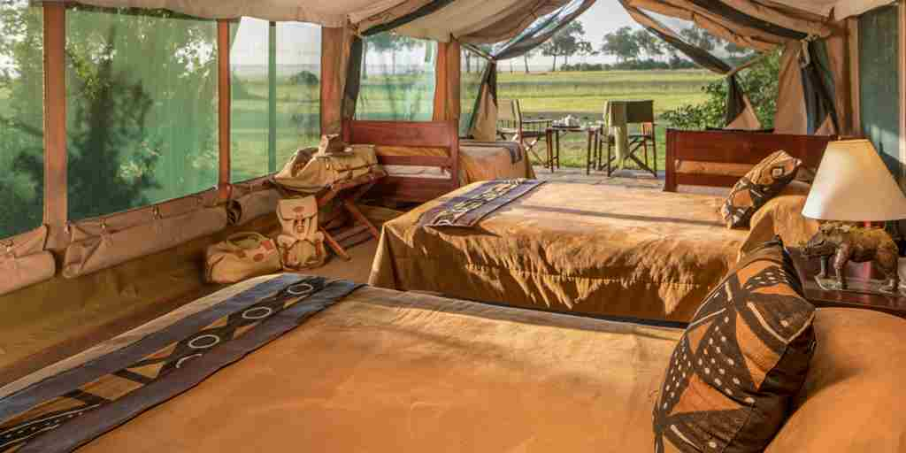 governors camp twin room kenya yellow zebra safaris