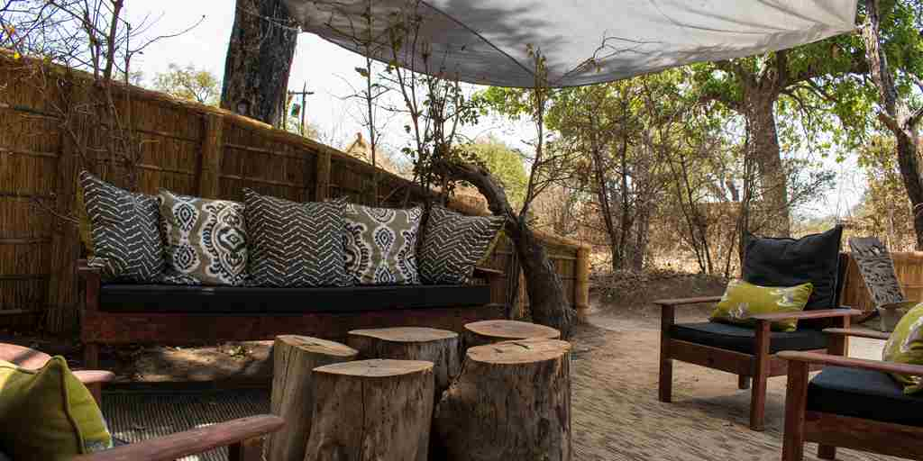 mwamba camp lounge details zambia yellow zebra safaris