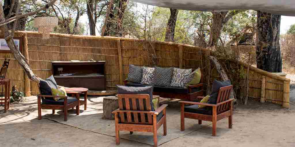 mwamba camp lounge zambia yellow zebra safaris