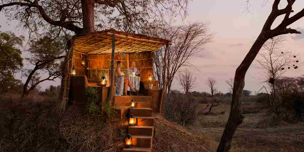 mwamba camp night view zambia yellow zebra safaris