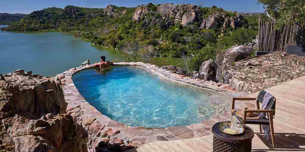 singita pamushana rock pool zimbabwe yellow zebra safaris