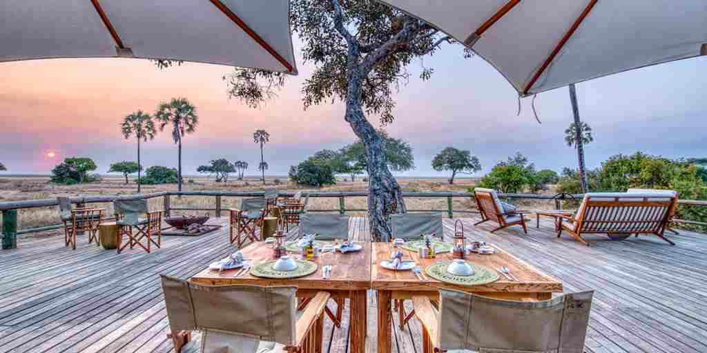 mbali mbali katavi outside dining tanzania yellow zebra safaris