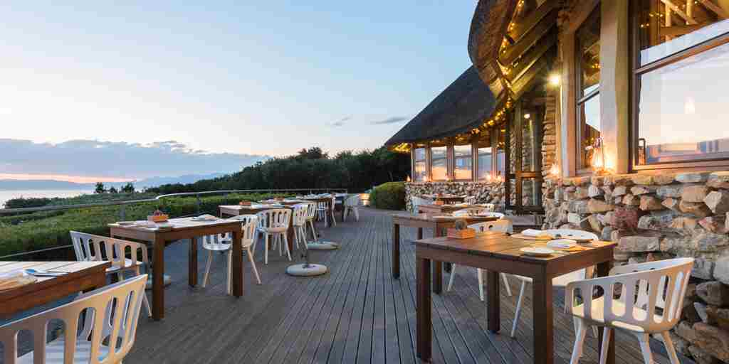 grootbos garden lodge dining deck south africa yellow zebra safaris