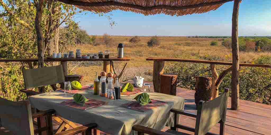 ntemwa busanga camp dining zambia yellow zebra safaris