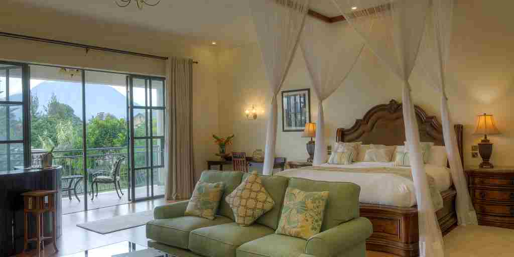 the bishops house double bedroom rwanda yellow zebra safaris
