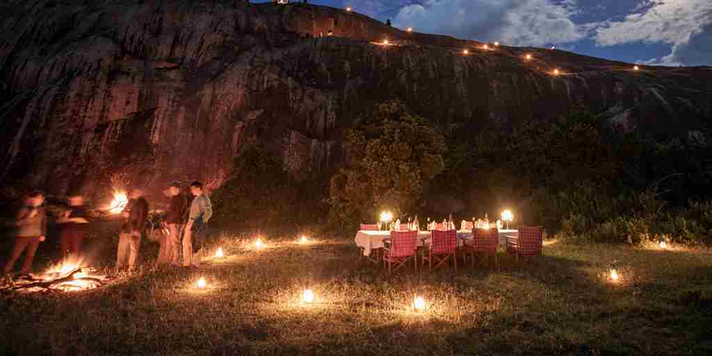 enasoit bush dinner kenya yellow zebra safaris