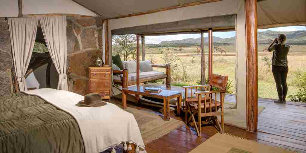 enasoit double bedroom kenya yellow zebra safaris