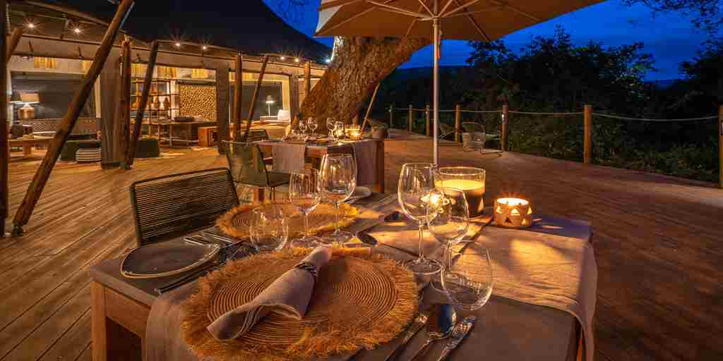 magashi night dining rwanda yellow zebra safaris